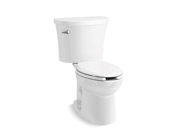 Kohler 25087-0 Kingston two-piece elongated 1.28 gpf toilet with Class Five® flushing technology and left-hand trip lever, seat not included-Commercial Toilets-HomePlumbing