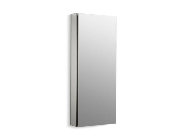 Kohler 2938-PG-SAA Catalan 15 W x 36-1/8 H aluminum single-door medicine cabinet with 170 degree hinge-Medicine Cabinets-HomePlumbing