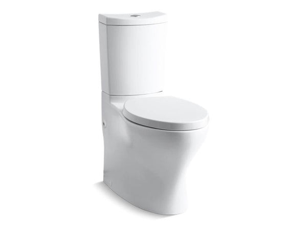 Kohler 6355-0 Persuade Curv Comfort Height two-piece elongated dual-flush toilet with top-mount actuator and skirted trapway, seat not included-Toilets-HomePlumbing