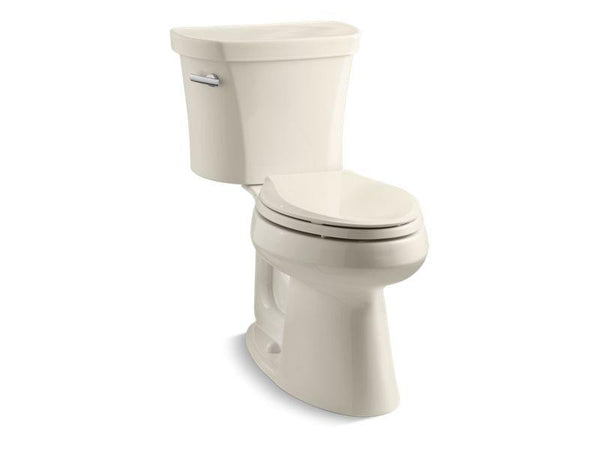 Kohler 3949-47 Highline® Comfort Height® two-piece elongated 1.28 gpf toilet with Class Five® flush technology and left-hand trip lever, seat not included-Toilets-HomePlumbing