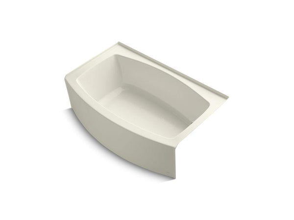 Kohler 1100-RA-96 Expanse 60 x 32-38 alcove bath with curved integral apron and right-hand drain-Bathing-HomePlumbing