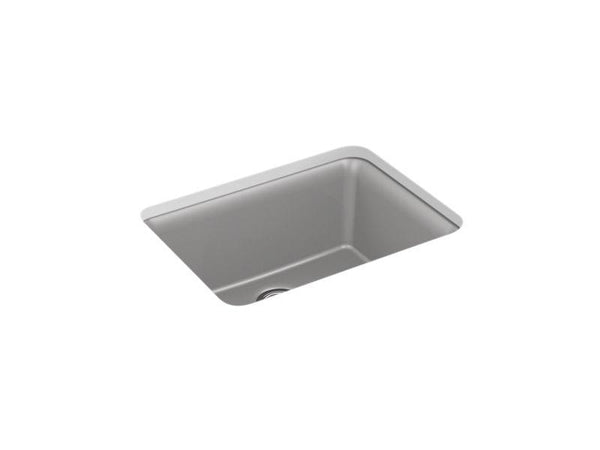 "Kohler 28001-CM4 Cairn 24-1/2"" x 18-5/16"" x 9-1/2"" Neoroc under-mount single-bowl kitchen sink with sink rack-Kitchen Sinks-HomePlumbing"