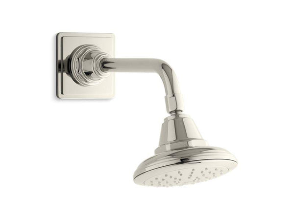 Kohler 45417-G-SN Pinstripe® 1.75 gpm single-function showerhead with Katalyst air-induction technology-Showerheads-HomePlumbing