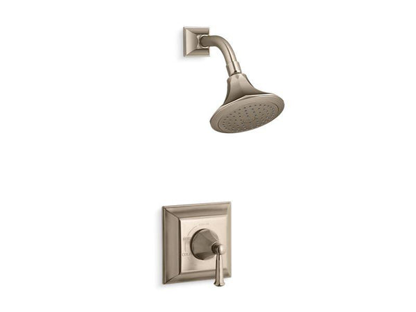 Kohler TS462-4S-BV Memoirs Stately Rite-Temp shower valve trim with lever handle and 2.5 gpm showerhead-Shower Trim-HomePlumbing