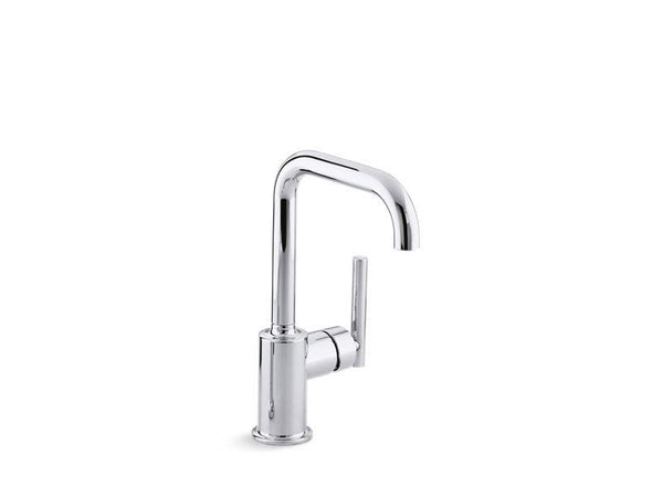 Kohler 7509-CP Purist® single-hole kitchen sink faucet with 6 spout-Kitchen Sink Faucets-HomePlumbing