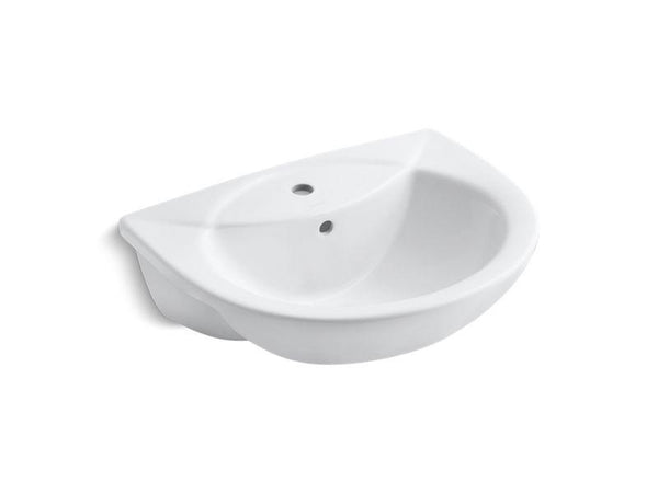 Kohler 11160-1-0 Odeon(TM) drop-in bathroom sink with single faucet hole-Bathroom Sinks-HomePlumbing