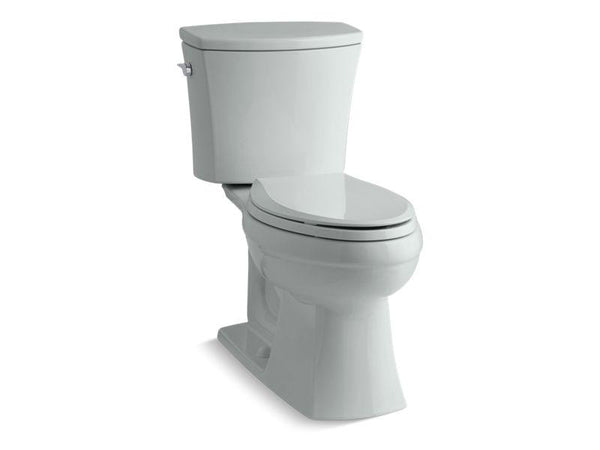 Kohler 3755-95 Kelston® Comfort Height® two-piece elongated 1.28 gpf toilet with AquaPiston® flushing technology and left-hand trip lever, seat not included-Toilets-HomePlumbing