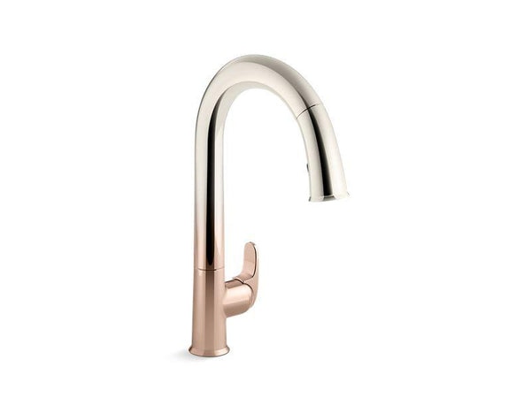 "Kohler 72218-3RS Sensate™ Touchless kitchen faucet with 15-1/2"" pull-down spout, DockNetik magnetic docking system and a 2-function sprayhead featuring the new Sweep spray"