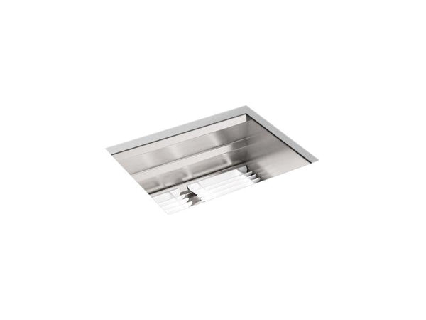 "Kohler 23650-NA Prolific 23"" x 17-3/4"" x 10-7/8"" under-mount single-bowl kitchen sink with accessories-Under-Mount Kitchen Sinks-HomePlumbing"