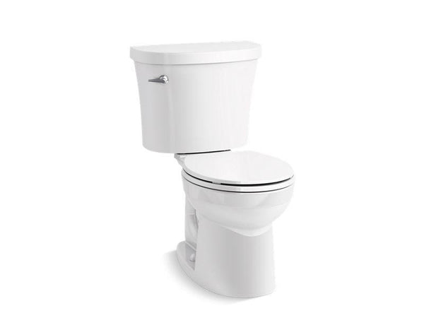 Kohler 25097-0 Kingston two-piece round-front 1.28 gpf toilet with Class Five® flushing technology and left-hand trip lever, seat not included
