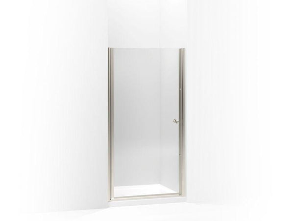 Kohler 702408-L-MX Fluence pivot shower door, 65-1/2 H x 33-3/4 - 35-1/4 W, with 1/4 thick Crystal Clear glass-Shower Doors-HomePlumbing