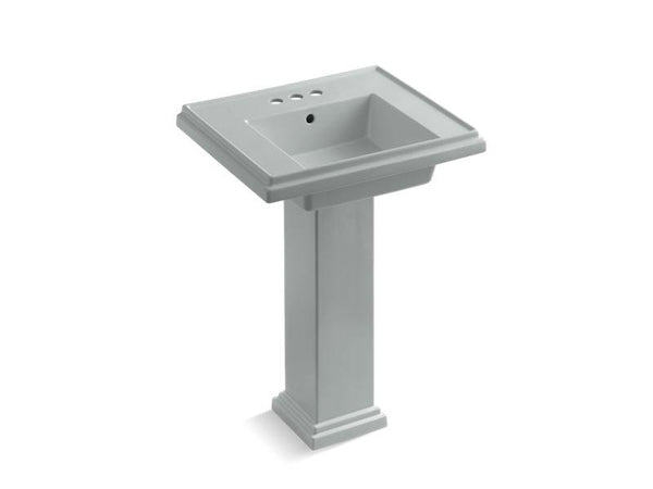 Kohler 2844-4-95 Tresham 24 pedestal bathroom sink with 4 centerset faucet holes-Bathroom Sinks-HomePlumbing