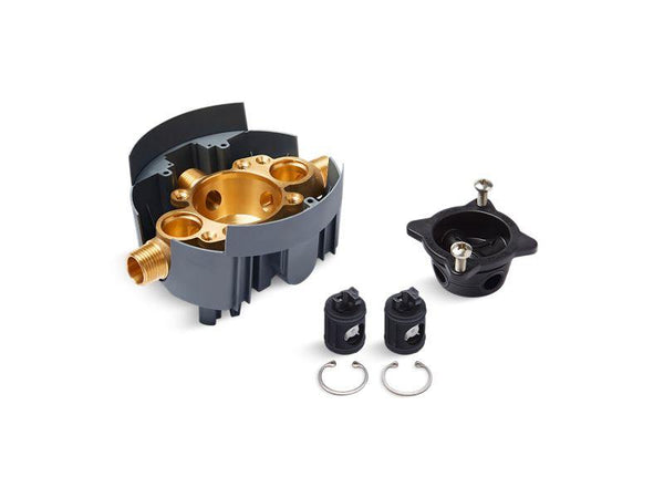 Kohler P8300-KSL-NA Rite-Temp valve body rough-in with service stops (supplied loose) and universal inlets, project pack-Valves-HomePlumbing