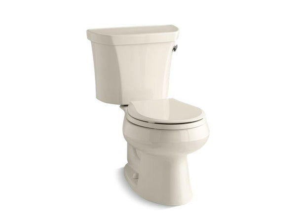 Kohler 3997-UR-47 Wellworth® two-piece round-front 1.28 gpf toilet with Class Five® flush technology, right-hand trip lever and Insuliner® tank liner, seat not included-Toilets-HomePlumbing