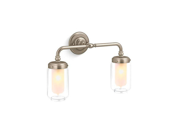 Kohler 72582-BV Artifacts double wall sconce-Lighting & Lighting Accessories-HomePlumbing
