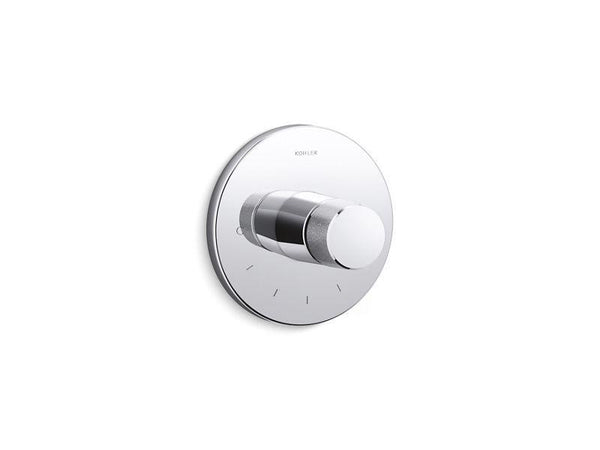 Kohler T78027-8-CP Components thermostatic valve trim with Oyl handle-Shower Trim-HomePlumbing
