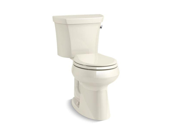 Kohler 5481-UR-96 Highline Comfort Height two-piece round-front 1.28 gpf toilet with Class Five flush technology, right-hand trip lever and Insuliner tank liner-Toilets-HomePlumbing