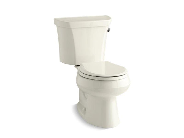 Kohler 3997-TR-96 Wellworth® two-piece round-front 1.28 gpf toilet with Class Five® flush technology, right-hand trip lever and tank cover locks, seat not included-Toilets-HomePlumbing