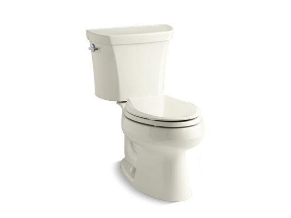 Kohler 3988-96 Wellworth® two-piece elongated dual-flush toilet with left-hand trip lever, seat not included-Toilets-HomePlumbing