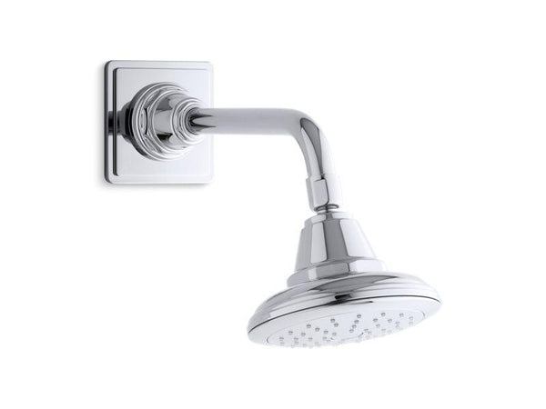 Kohler 45417-G-CP Pinstripe® 1.75 gpm single-function showerhead with Katalyst air-induction technology-Showerheads-HomePlumbing