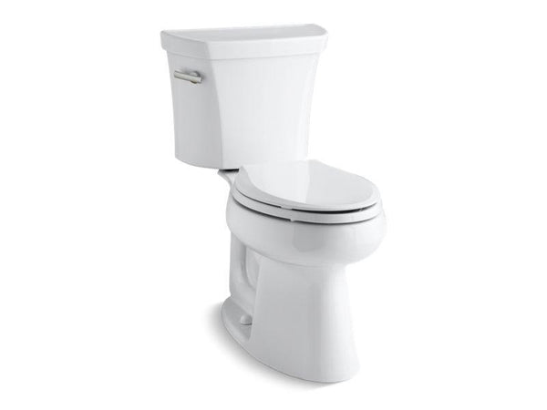 Kohler 3999-T-0 Highline® Comfort Height® two-piece elongated 1.28 gpf toilet with Class Five® flush technology, left-hand trip lever and tank cover locks, seat not included-Toilets-HomePlumbing