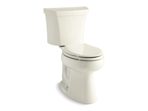 Kohler 5298-TR-96 Highline 1.0 gpf Comfort Height two-piece elongated toilet with Class Five flush technology, right-hand trip lever and tank cover locks, seat not included-Toilets-HomePlumbing