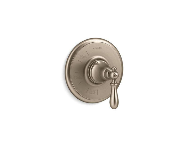 Kohler TS72767-9M-BV Artifacts Rite-Temp valve trim with swing lever handle-Handle Trim-HomePlumbing