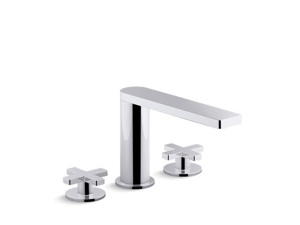 Kohler 73081-3-CP Composed deck-mount bath faucet with cross handles-Tub Faucets-HomePlumbing