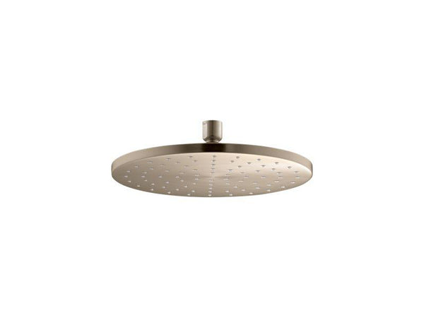 Kohler 13689-BV Contemporary Round 10 Contemporary Round 2.5 gpm rainhead with Katalyst® air-induction technology-Rainheads-HomePlumbing