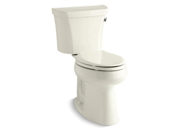 Kohler 3889-RA-96 Highline® Comfort Height® two-piece elongated 1.28 gpf toilet with Class Five® flush technology and right-hand trip lever, seat not included-Toilets-HomePlumbing