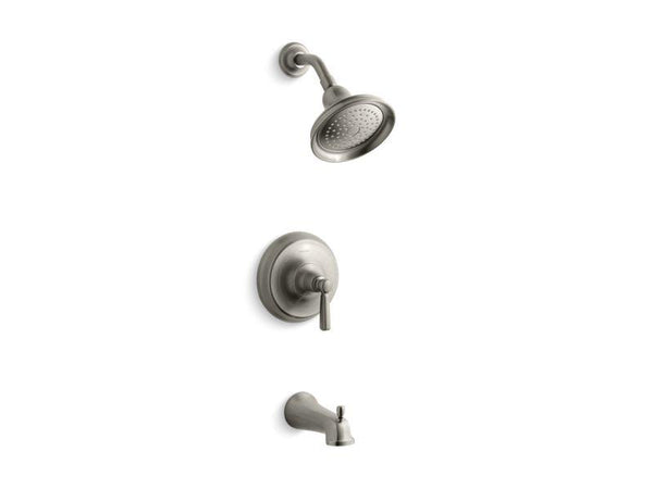 Kohler TS10581-4-BN Bancroft Rite-Temp bath and shower trim set with NPT spout, valve not included-Tub Shower Trim-HomePlumbing