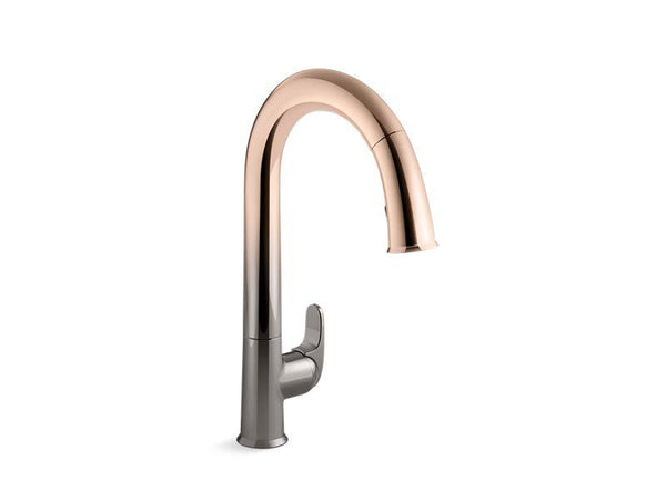 "Kohler 72218-3TR Sensate™ Touchless kitchen faucet with 15-1/2"" pull-down spout, DockNetik magnetic docking system and a 2-function sprayhead featuring the new Sweep spray"