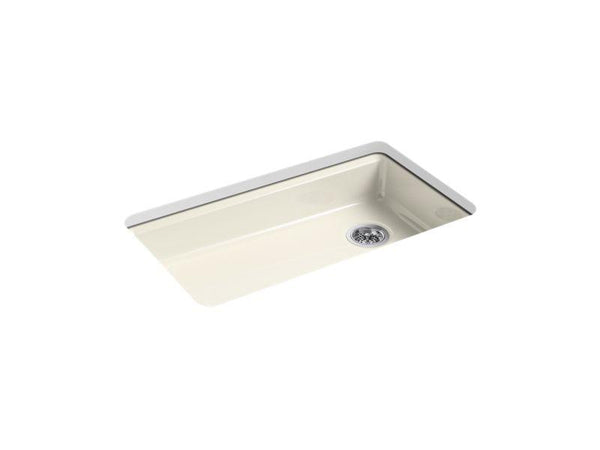 "Kohler 8689-5U-96 Riverby 33"" x 22"" x 5-7/8"" under-mount single-bowl kitchen sink-Kitchen Sinks-HomePlumbing"