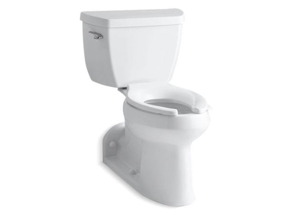 Kohler 3578-SS-0 Barrington Comfort Height two-piece elongated 1.0 gpf toilet with Pressure Lite flushing technology, left-hand trip lever and antimicrobial finish, less seat-Commercial Toilets-HomePlumbing