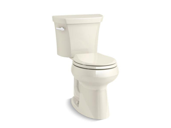 Kohler 5481-U-96 Highline Comfort Height two-piece round-front 1.28 gpf toilet with Class Five flush technology and left-hand trip lever and Insuliner tank liner, seat not included-Toilets-HomePlumbing
