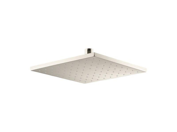 "Kohler 13696-G-SN Radiant® 10"" Contemporary Square 1.75 gpm rainhead with Katalyst air-induction technology-Rainheads-HomePlumbing"