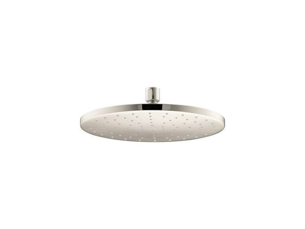 "Kohler 13689-G-SN Contemporary Round 10"" Contemporary Round 1.75 gpm rainhead with Katalyst air-induction technology-Rainheads-HomePlumbing"