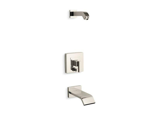 Kohler T14664-4L-SN Loure Rite-Temp bath and shower trim set with push-button diverter, less showerhead-Tub Shower Trim-HomePlumbing