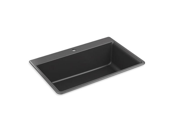 "Kohler 8437-1-CM7 Kennon 33"" x 22"" x 10-1/8"" Neoroc top-/under-mount single-bowl kitchen sink"