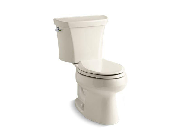 Kohler 3988-47 Wellworth® two-piece elongated dual-flush toilet with left-hand trip lever, seat not included-Toilets-HomePlumbing