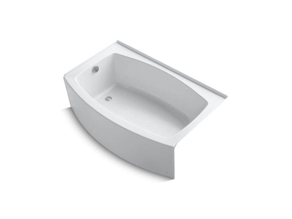 Kohler 1100-LA-0 Expanse 60 x 32-38 curved alcove bath with integral flange and left-hand drain-Bathing-HomePlumbing