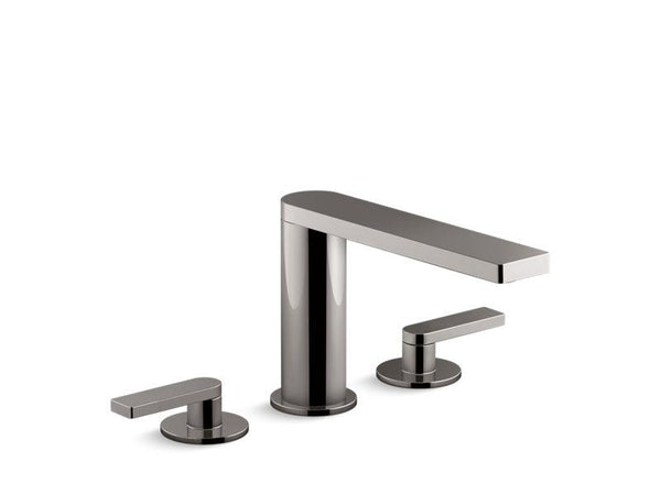 Kohler 73081-4-TT Composed deck-mount bath faucet with lever handles-Tub Faucets-HomePlumbing