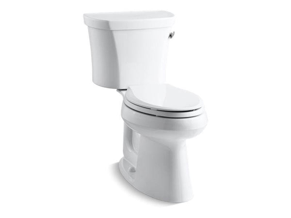 Kohler 3949-TR-0 Highline® Comfort Height® two-piece elongated 1.28 gpf toilet with Class Five® flush technology, right-hand trip lever and tank cover locks, seat not included-Toilets-HomePlumbing