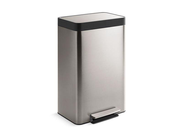 Kohler 20940-ST 13-gallon stainless steel step can-Trash Cans-HomePlumbing