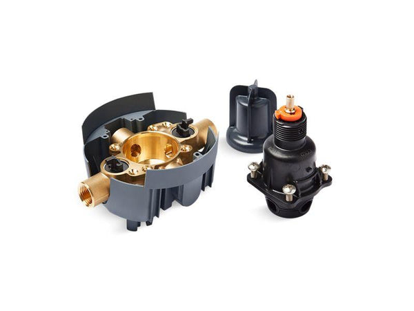 Kohler P8304-IPS-NA Rite-Temp valve body and pressure-balance cartridge kit with service stops and female NPT connections, project pack-Valves-HomePlumbing