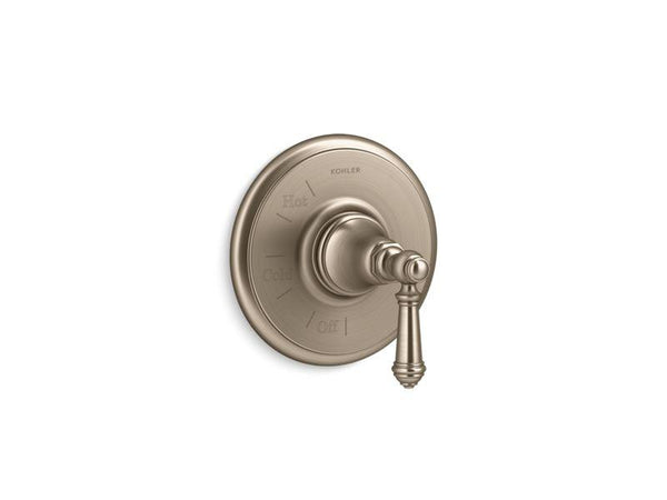 Kohler TS72767-4-BV Artifacts Rite-Temp valve trim with lever handle-Handle Trim-HomePlumbing