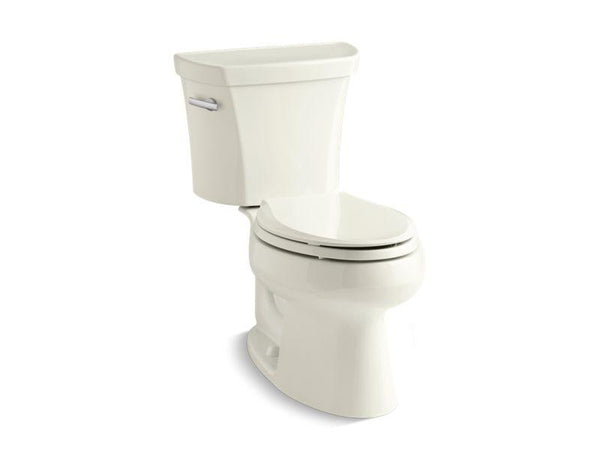 Kohler 3978-T-96 Wellworth® two-piece elongated 1.6 gpf toilet with Class Five® flush technology, left-hand trip lever and tank cover locks, seat not included-Toilets-HomePlumbing