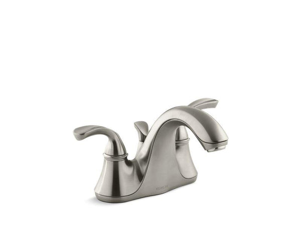 Kohler 10270-4-BN Forté® Centerset bathroom sink faucet with sculpted lever handles-Sink Faucets-HomePlumbing
