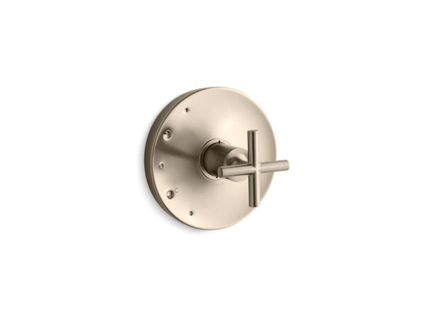 Kohler TS14423-3-BV Purist Rite-Temp valve trim with cross handle-Handle Trim-HomePlumbing