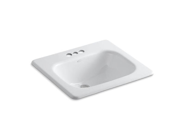 Kohler 2895-4-0 Tahoe drop-in bathroom sink with 4 centerset faucet holes-Bathroom Sinks-HomePlumbing